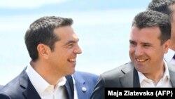 Премиерите на Македонија и на Грција Зоран Заев и Алексис Ципрас