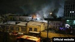 Пожар в швейном цеху на Стромынке