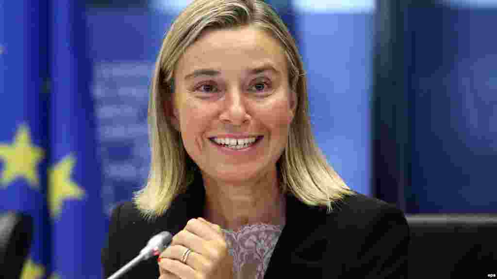 Federica Mogherini, Italy, vice president in charge of EU foreign policy: She has been accused of being too close to Moscow and questions have been raised about her foreign policy experience, seeing as she only became foreign minister in Italy in February. Nevertheless, Mogherini overcame the deep suspicions of several eastern member states and was selected by EU heads of state to succeed Ashton as the EU foreign policy chief.