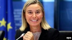 Federica Mogherini gjatë paraqitjes së saj në Parlamentin Evropian