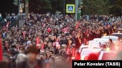 Петербург, 7 октября, несогласованная акция в поддержку Алексея Навального