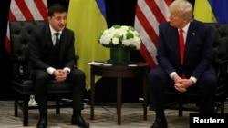 Владимир Зеленский и Дональд Трамп на встрече в Нью-Йорке, 25 сентября 2019 года
