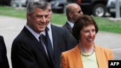 Hashim Thaçi dhe Catherine Ashton, (Arkiv)