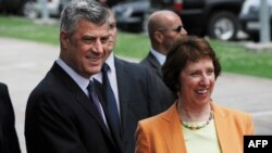 Catherine Ashton me Hashim Thaçin