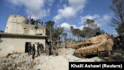 припадници на турскат војска во близина на Африн. 28.01.2018