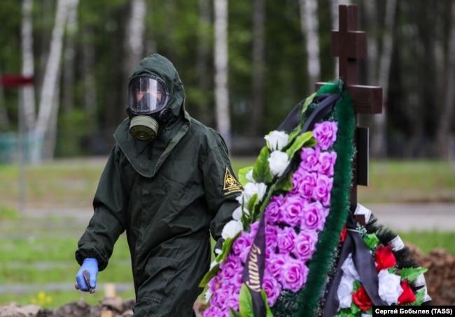 Varrimi i viktimave nga COVID-19 në Moskë