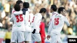 ایران تیم ده نفره سنگاپور را شش بر صفر شکست داد. عکس از ایسنا.