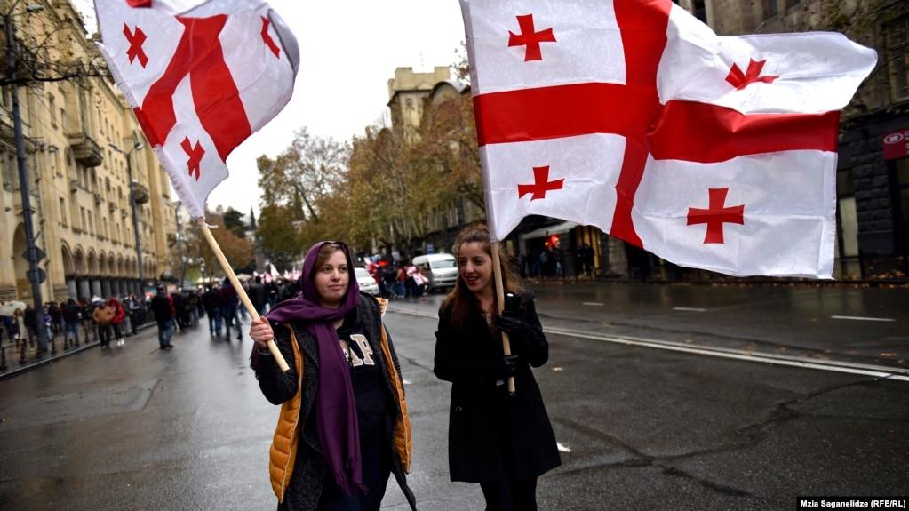 Акция в поддержку Михаила Саакашвили в Тбилиси