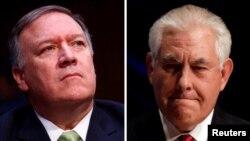 Директорот на ЦИА Мајк Помпео и американскиот државен секретар Рекс Тилерсон