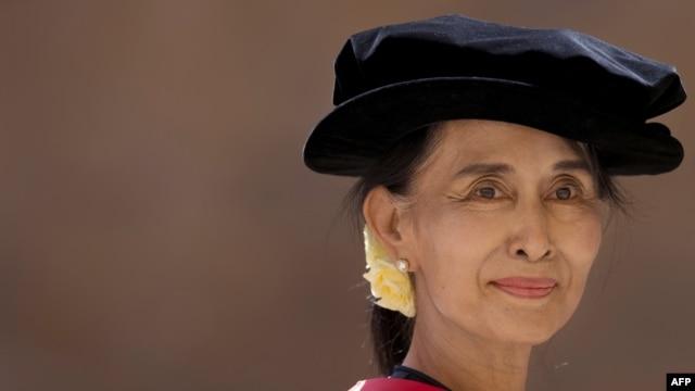 Aung San Suu Kyi, London, 2012.