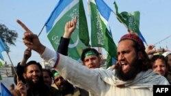 Пратэст супраць дня Сьвятога Валянціна ў Пэшавары, Пакістан
