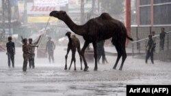 Наслідки опадів у місті Лахор, Пакистан, серпень 2019 року
