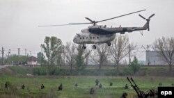 Ուկրաինական օդուժի ուղղաթիռը Սլավյանսկի մոտ, արխիվ