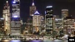 Sidnej i Australisë, pak momente para fikjes së dritave - 29 mars 2008.