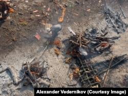 Огненное погребение в Индии, в священном городе Варанасе