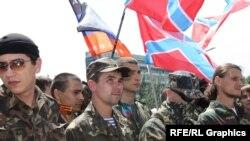Прарасейскія сэпаратысты ў Данецку 22 чэрвеня