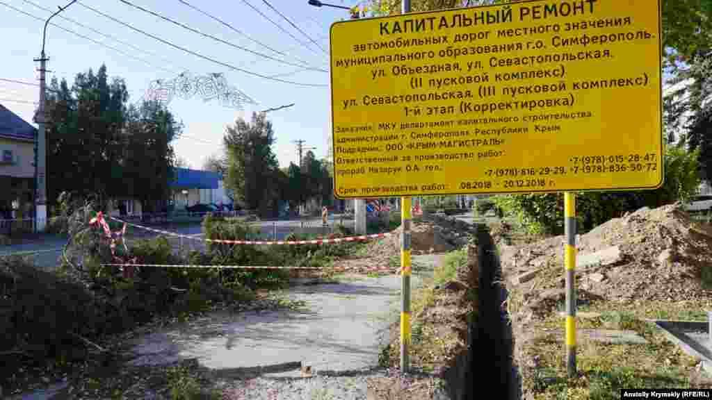 Підрядник «Крим-Магістраль» обіцяє завершити капітальний ремонт вулиці Севастопольської до 20 грудня 2018 року