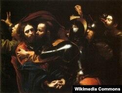 sa Məsihin həbsi. Caravaggio-nun çəkdiyi rəsm