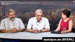 Կիրո Մանոյանը և Դավիթ Շահնազարյանը «Ազատության» տաղավարում, 26-ը օգոստոսի, 2017 թ․