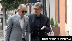 Svetozar Marović (desno) i njegov advokat Zdravko Begović, Podgorica