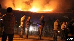 Пожар от взрыва в городе Афьонкарахисар, 6 сентября 2012