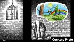 Mana Neyestaninin karikaturası
