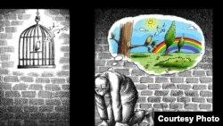 Работа иранского карикатуриста Мана Неестани.