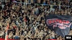Навивачи на Вардар на натпреварот против Зенит на 15 септември 2017
