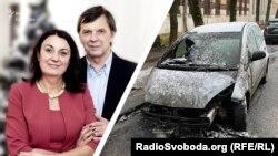 Галина Терещук працює на Радіо Cвобода з 2000 року, вона відкидає побутові версії підпалу її автомобіля