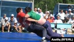 Сабантуйның матур бизәге – татарча көрәш