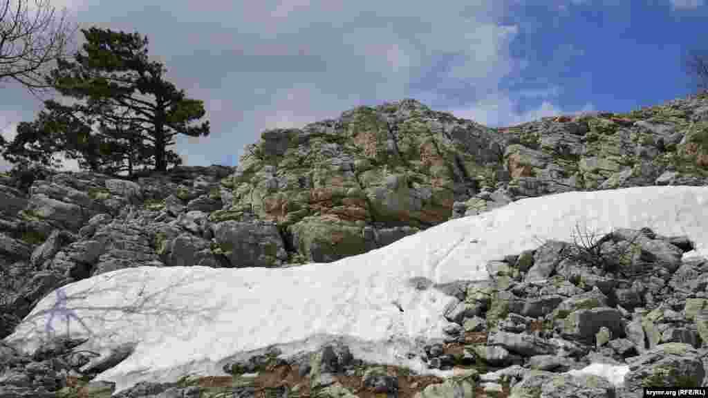 Навіть у травні подекуди в балках на плато Ай-Петрі лежить сніг