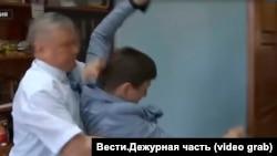 Нападение Сергея Зайцева на журналиста