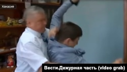 Нападение Сергея Зайцева на журналиста Ивана Литомина