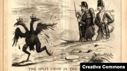 """Карикатура времен Крымской войны из британского сатирического журнала """"Панч"""", 1855 год."""