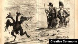 Британська карикатура часів Кримської війни, 1855
