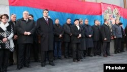 Armenia - Leaders of the opposition Armenian National Congress at a rally in Yerevan.