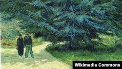 Вінсэнт ван Гог, «Публічны сад зпарай ісіняй елкай» (1888).