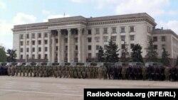 Одессадағы Кәсіподақтар үйі ғимараты. 1 мамыр 2015 жыл.
