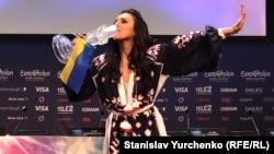 Джамала на пресс-конференции после победы на «Евровидении-2016»