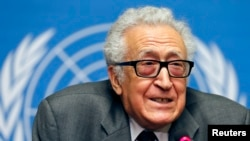 Lakhdar Brahimi is moderating the talks.