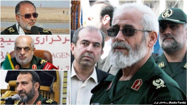 "The commander of IRGC's regional HQ in the North of Iran ""Ghadir"", Ali Shalikar and his provincial deputies Mohammad Abdollahpour (Gilan), Ali Malek Shahkoui (Golestan), and Mohammad Hossein Babaei (Mazandaran)."