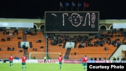 Kombëtarja e Shqipërisë gjatë një ndeshje në Bjellorusi. (Foto nga arkivi)