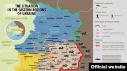 Украинаның шығысындағы әскери ахуал. 14 қазан 2014 жыл.