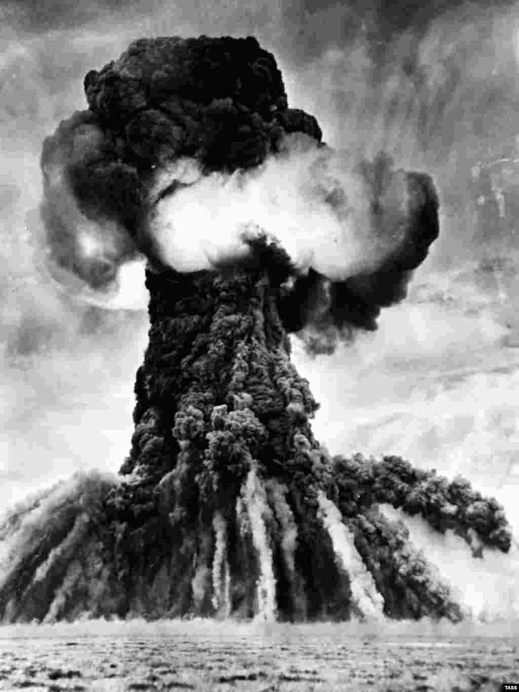 The first Soviet nuclear test at Semipalatinsk on August 29, 1949