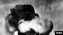 The Soviet Union's first nuclear test at Semipalatinsk on August 29, 1949.