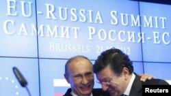 Președintele Vladimir Putin cu Jose Manuel Barroso în 2012