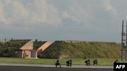 نیروهای مخصوص هند در یک پایگاه هوایی این کشور