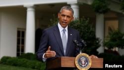 Президент США Барак Обама. Вашингтон, 21 июля 2014 года.