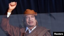 Libyan leader Muammar Qaddafi, in power for 40 years