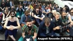 Акция протеста против наступления на свободу слова. Москва, 5 мая 2018